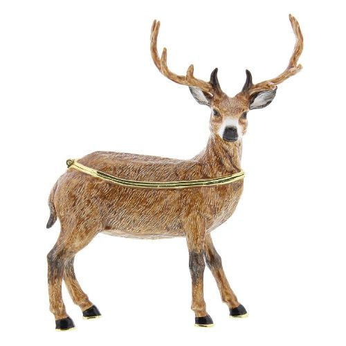 Stag Reindeer Trinket Box Gift Treasured Trinkets by Juliana Collectible